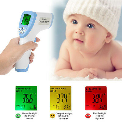 New LCD Temperature Gun Non-contact Infrared IR Digital Baby Adult Thermometer