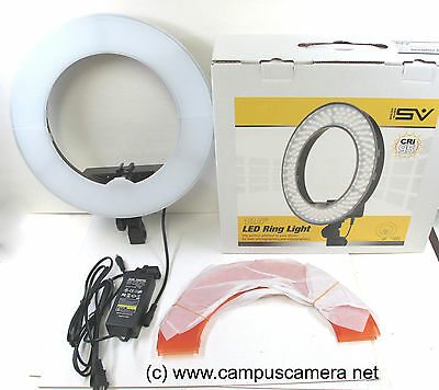 "Smith Victor 13.5"" LED Dimmable Ring Light Beauty Light SV-RLED42 401610 AC Unit"