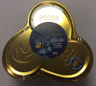 Club Penguin Card-jitsu Collectors Tin With 7 Boosters And More TCG CCG