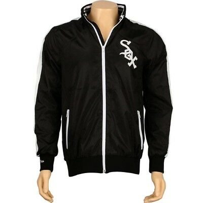 63c11184d1afe $89.99 Mitchell And Ness Chicago White Sox Pennant Race Windbreaker Jacket  (blac