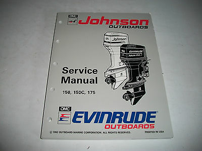 1993 Johnson Evinrude  150 150C 175 Outboard Service Shop Manual #508286 Clean