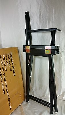 Casual Home 18 Inch Directors Chair Frame Only Black Color New In Box Calc Shpng