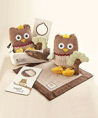 NWT Baby Aspen My Little Night Owl Five-Piece Baby Gift Set 0-24 months