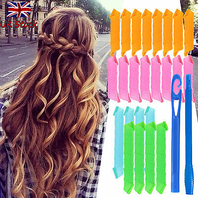 Magic Circle Hair Rollers Curlers Hot Large Spiral Styling DIY Tool Curlformers