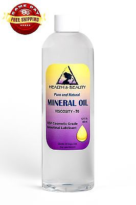 MINERAL OIL 70 VISCOSITY NF USP GRADE LUBRICANT by H&B Oils Center PURE 12 OZ