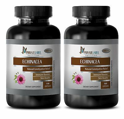 Skin care - ECHINACEA 400mg EXTRACT - immune support daily vitamins - 2 Bottles