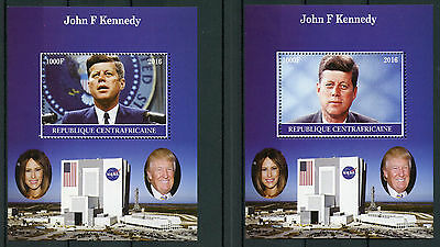 Central African Rep 2016 MNH John F Kennedy JFK 2x 1v M/S US Presidents Stamps