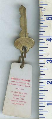 Vintage Historical  Hotel Motel Room Key Fob Beverly Hills Wilshire California