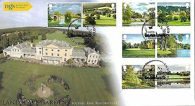 Gb 2016 Landscape Gardens Buckingham Covers Official Fdc