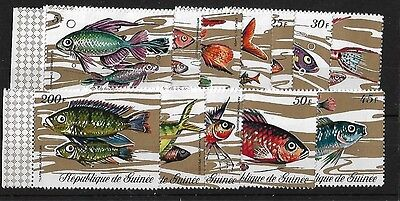 Guinea Rep Sg729/40, 1971 Fishes Mnh