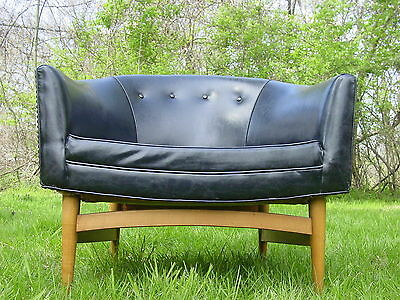Vintage 1950s modern barrel lounge chair Lawrence Peabody mid century