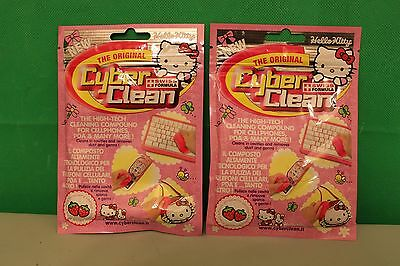 2 x HELLO KITTY Pink Cyber Clean KEYBOARD CELL CLEANER  PUTTY Press (c1)