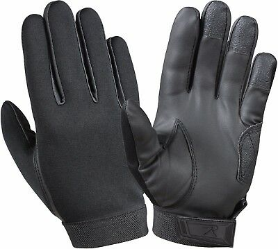 Black Texturized Military Padded Tactical Shooting Gloves