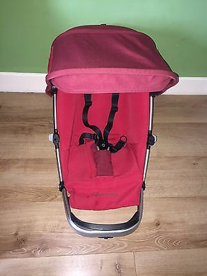 Quinny Buzz Seat Unit Frame - Robin Red With Universal Rain Cover