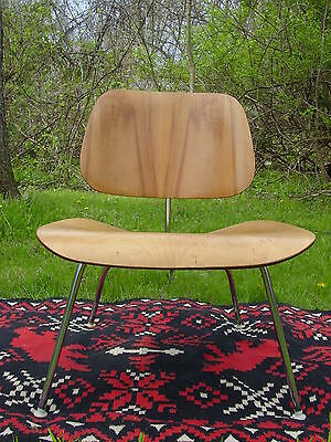 Vintage 1950s Eames chair LCM molded plywood Herman Miller lounge chair modern