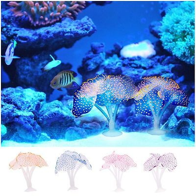 Ornament Landscape Silicone Glowing Effect Artificial Coral Fish Tank Decor