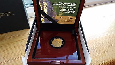 2016 €50 Gold Proof Coin (Proclamation of the Irish Republic)