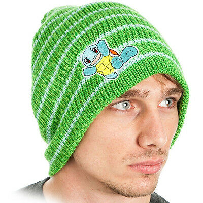 Pokemon - Squirtle Striped - Cuffless Beanie - One Size - Green