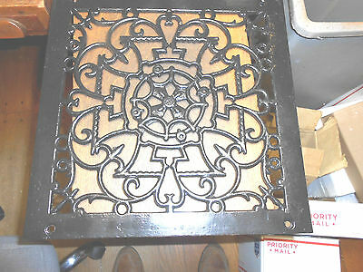 "14"" x 14"" Ornate Cast Iron Heating / Air Grate Vent - Top Only"