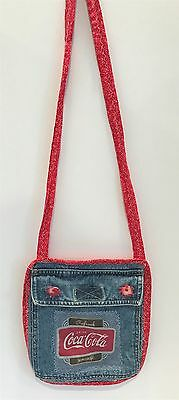 COCA COLA Coke Womens Purse Bag Jean Bag Pocket Denim