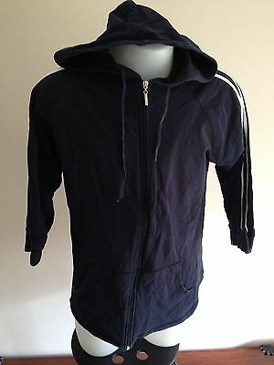 Additions Maternity Navy Blue Jacket With Hoodie Size M
