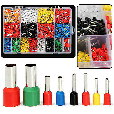 2120Pcs Assorted Insulated Electrical Wire Terminal Crimp Connector Spade Set