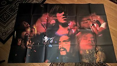 """Chicago BAND 1971 concert poster 73"""" x 49"""" Insert from Chicago at Carnegie Hall"""