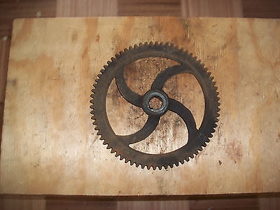 gear machine part 9 1/8'' x 7/8''-steampunk industrial art