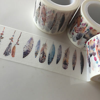 Washi Tape Wide Feather Bunting 30Mm X 5Mtr Roll Scrap Plan Craft