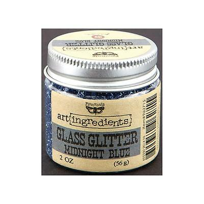 NEW Prima, Finnabair, art ingredients, Glass Glitter, Midnight Blue, 2 fl oz