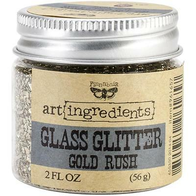 NEW Prima, Finnabair, art ingredients, Glass Glitter, Gold Rush, 2 fl oz