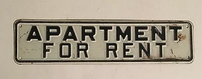 """Vintage Raised Letter """" APARTMENT FOR RENT """" Metal Sign Embossed 12"""" X 3"""""""