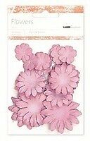 NEW Kaiser scrapbook Flowers asst sizes , Approx 60, Antique Pink