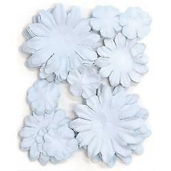 NEW Kaiser scrapbook Flowers asst sizes , Approx 60, Baby Blue
