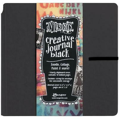 NEW Dylusions Creative Journal - Art Journal Black, 8in x 8in, 48 pages