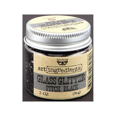 NEW Prima, Finnabair, art ingredients, Glass Glitter, Pitch Black, 2 oz