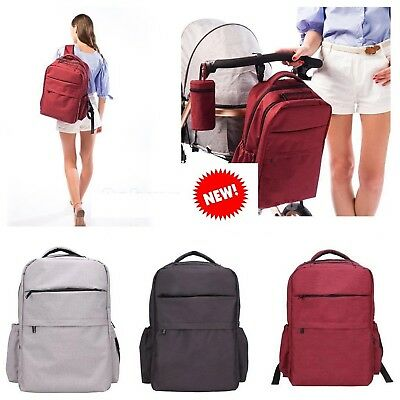 Multifunctional Baby Nappy Backpack Diaper Changing Bag Mummy Backpack Bag Red