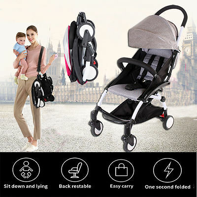 Baby Kids Umbrella Stroller Pram Pushchair Travel System Buggy One Key Folding