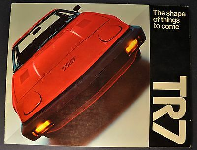 1975 Triumph TR7 Catalog Sales Brochure Excellent Original 75
