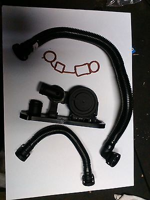 VW Audi 2.0 TFSI PCV valve with gasket and exhaust hoses 06F129101N 06F103483E