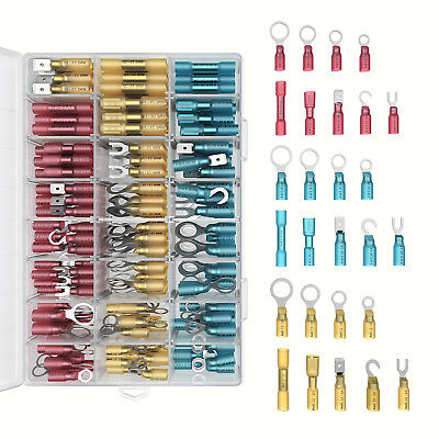 270 PC Heat Shrink Wire Connector Kit Electrical Insulated Crimp Boat Wiring Set