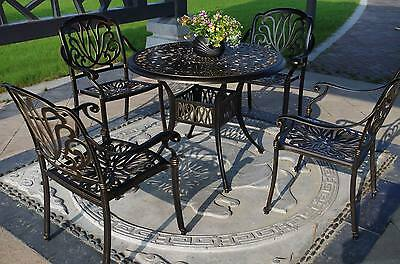 Vintage Style Patio Table and Chairs Dining Set 5-Piece Outdoor Porch Furniture