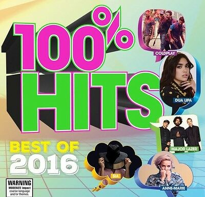100% Hits. Best Of 2016. Brand New CD