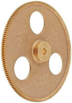 "Boston Gear Y32160 Spur Gear, Brass, Inch, 32 Pitch, 0.313"" Bore, 5.062"" OD, 0.1"
