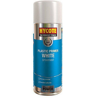 Hycote Plastic White Primer Spray Can Paint 400ml