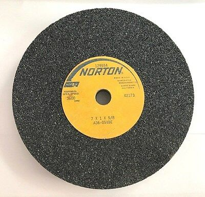 NORTON  7 X 1 X 5/8 BENCH GRINDING WHEELS A36-05VBE  NEW - Old Stock