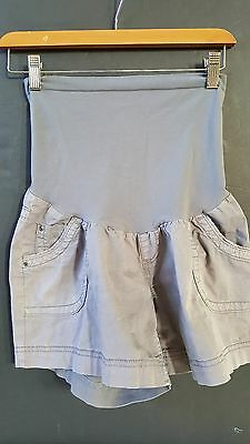Motherhood Maternity Gray/Charcoal Panel Cargo Shorts Womens Medium