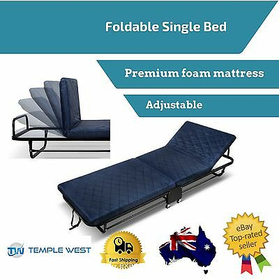 Spare Quest Single Bed Portable Foldable Camping Trundle Adjustable Mattress