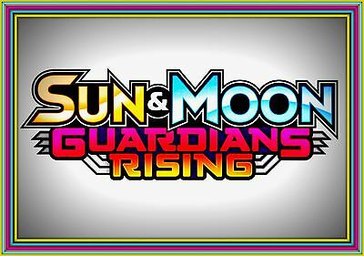 Sun & Moon GUARDIANS RISING Booster Code Cards - Pokemon Online XY TCG Codes