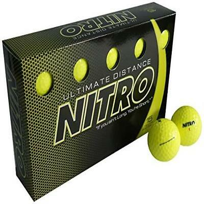 Usa Seller Nitro Ultimate Distance Golf Ball (15-Pack) Yellow US SELLER New